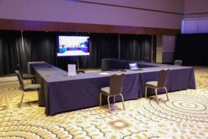 Hybrid Event Setup in Arcadia Ballroom