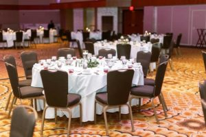 Kalamazoo Radisson Arcadia Ballroom Wedding Setup
